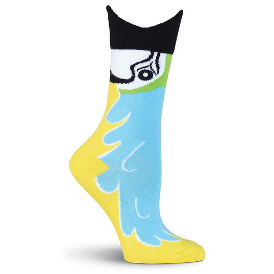 K. Bell Womens Wide Mouth Macaw Crew Socks