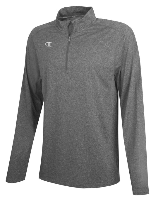 Champion Mens Quarter Zip Pullover, 2XL, Athletic Royal Heather