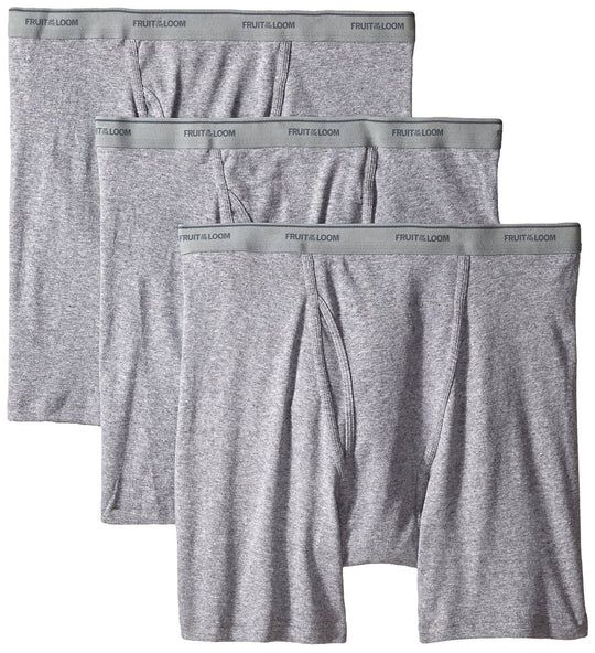 Fruit of the Loom Men`s 3pk Big Man Solid Knit Boxers