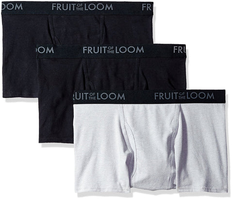 Fruit of the Loom Mens Breathable 3-Pack Short Leg Boxer Brief