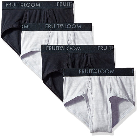 Fruit of the Loom Mens Breathable 4-Pack Briefs