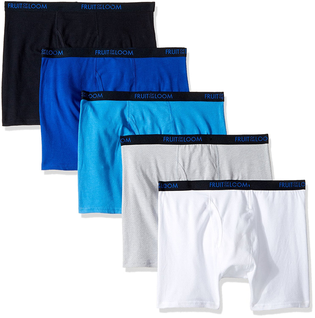 Fruit of the Loom Boys 5 Pack Breathable Boxer Briefs