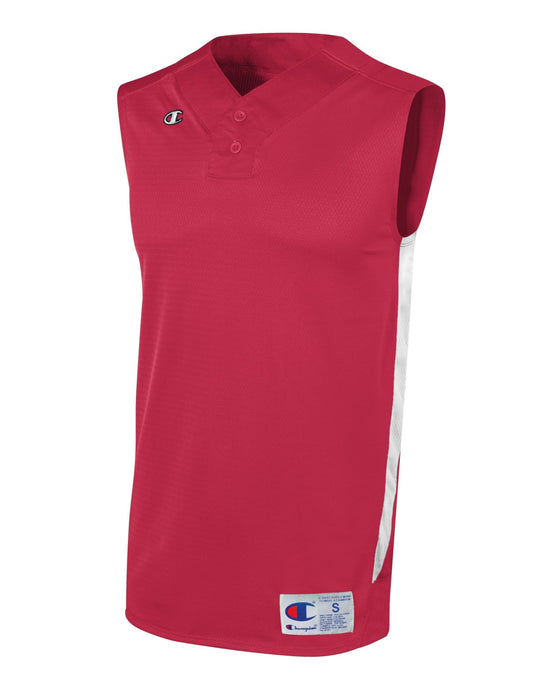 Champion Men's and Youth Prospect Baseball Double Dry Sleeveless Henley Jersey