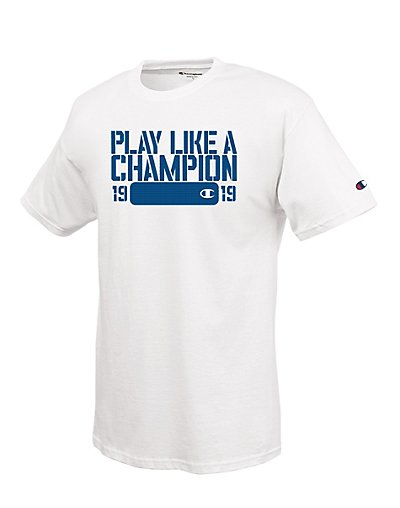 Champion 100% Cotton Men's T Shirt with 'Play Like a Champion - 1919' Graphic