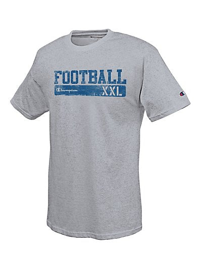 Champion Cotton-Rich Men's T Shirt with 'Football Scrimmage' Graphic