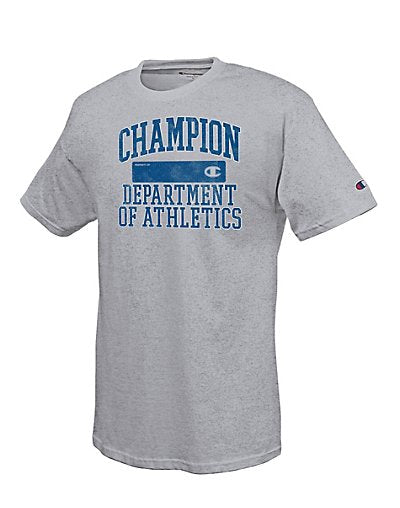 Champion Cotton-Rich Men's T Shirt with 'Department of Athletics' Graphic