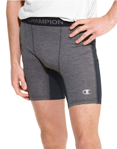 Champion Men`s PowerTrain PowerFlex Solid Compression Shorts