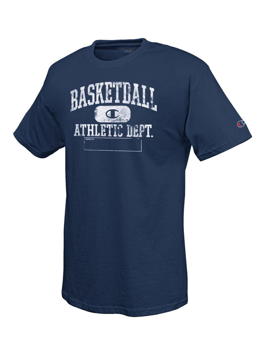 Champion 100% Cotton Men's T Shirt with 'Basketball Athletic Department' Graphic