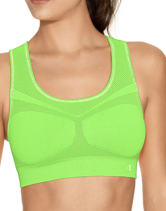Champion Double Dry Women's Seamless Racer-Back Medium Control Sports Bra