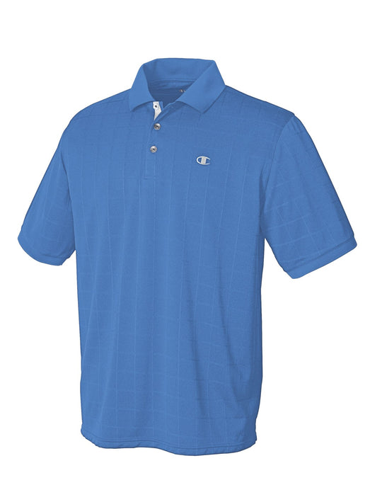 Champion Double Dry Windowpane Men's Polo Shirt
