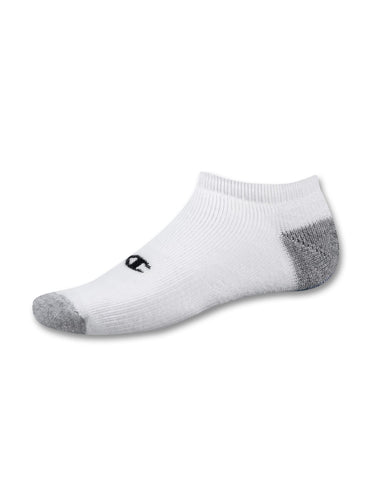 Champion Double Dry Performance No-Show Men's Athletic Socks - Extended Size 6-Pack