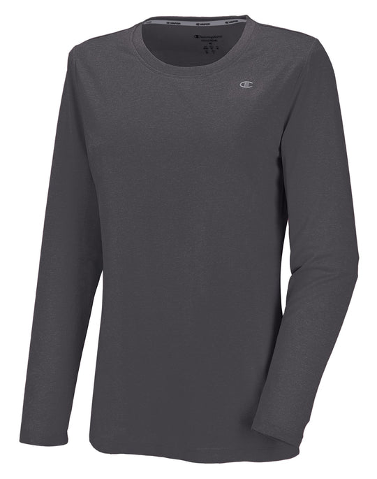 Champion Vapor PowerTrain Long Sleeve Heather Women's Tee
