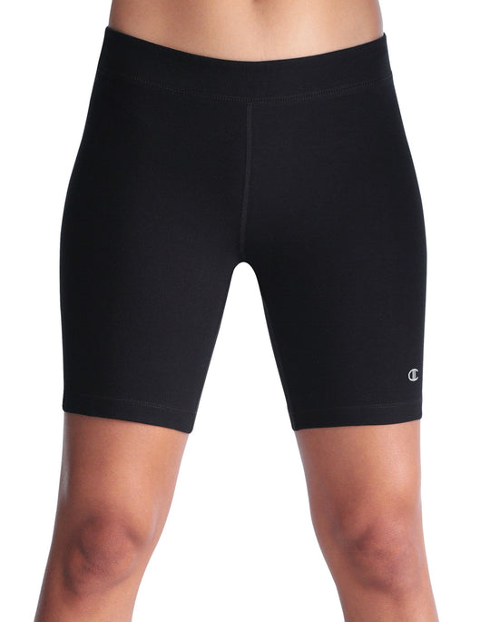 "Champion Double Dry Cotton-Rich FITTED 7"" Women's Bike Shorts"