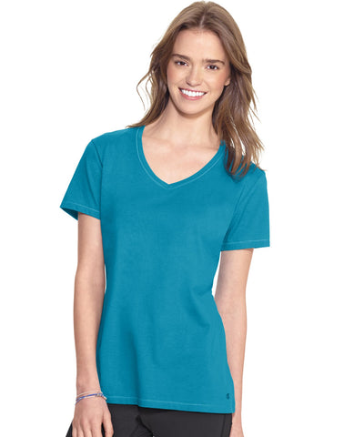 Champion Women`s Authentic Jersey V-Neck Tee