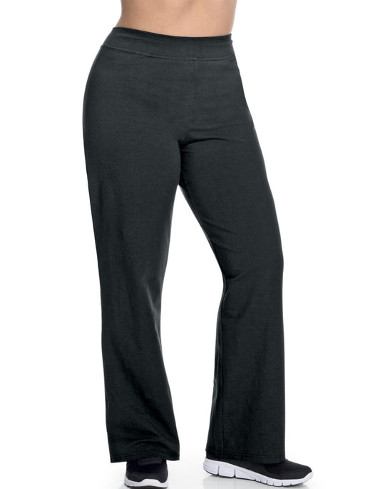 Champion Stretch-Cotton Fitted Plus-Size Women's Boot-Cut Pants