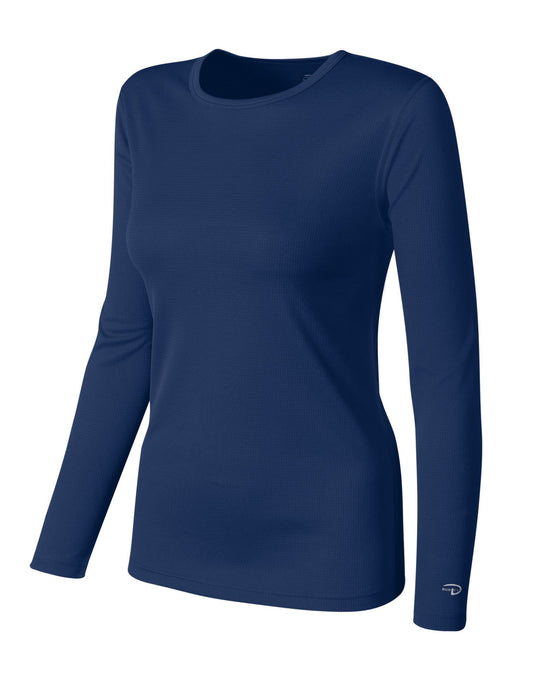 Duofold by Champion Women's Base Weight First Layer Long Sleeve Crew with Champion Vapor Technology