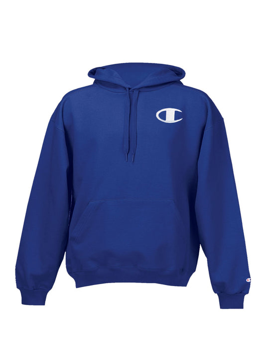Champion Super Hood Fleece Men`s Hoodie with Big Raised Embroidered C Logo