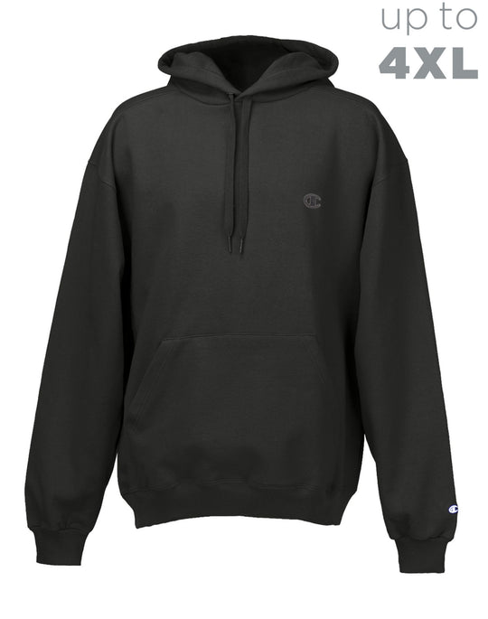 Champion Super Hood Fleece Men`s Hoodie with Small Embroidered C Logo
