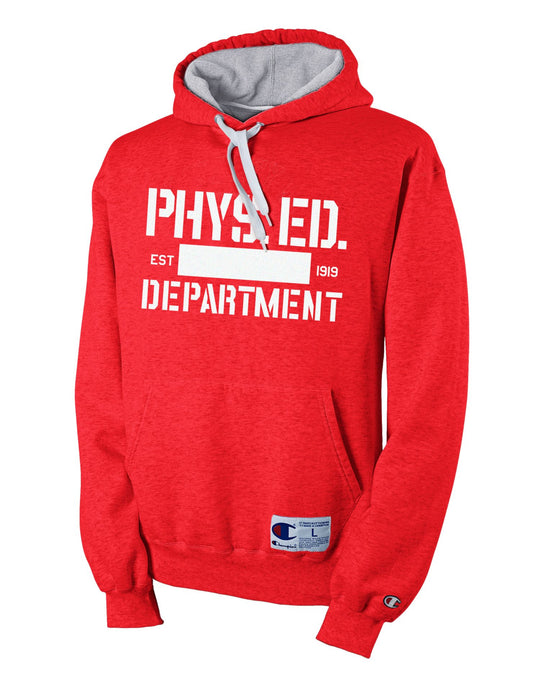 Champion Retro Rugby Men's Hoodie with 'Phys Ed' Graphic