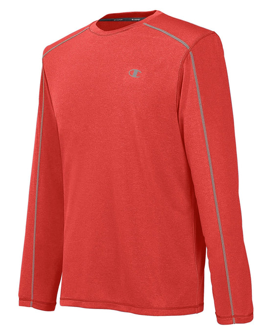 Champion Men`s Vapor PowerTrain Heather Long Sleeve Tee