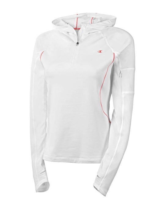 Champion Ultimate Double Dry+ Quarter-Zip Hooded Women's Pullover