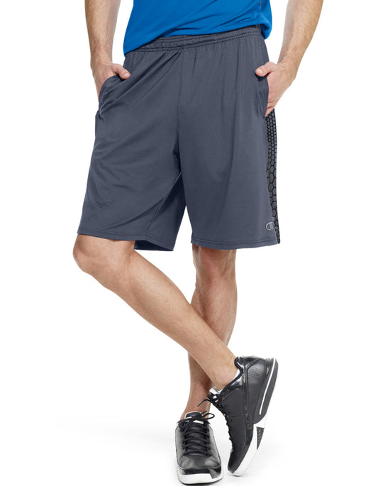 Champion Men`s PowerTrain PowerFlex Shorts With Pockets