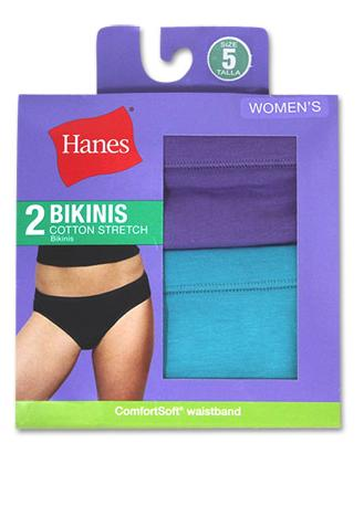 d8420cb43cf D42EAS - Hanes Women's Cotton Stretch Bikinis 2-Pack – NY Lingerie