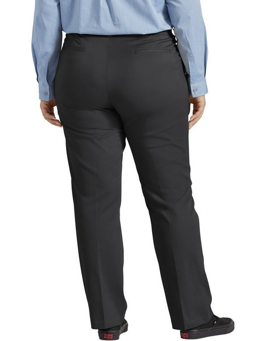 Dickies Womens Plus Size Perfect Shape Straight Leg Twill Pants