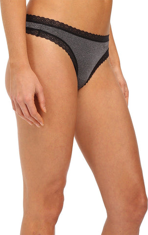 DKNY Womens Signature Lace Heather Thong