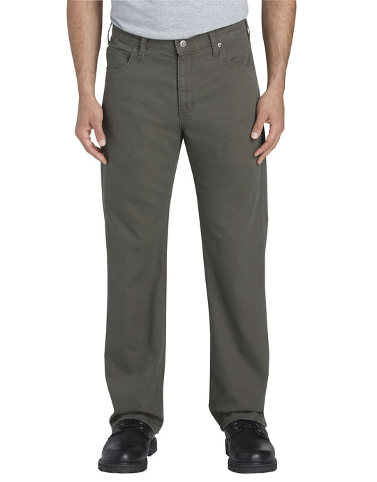 Dickies Mens FLEX Regular Fit Straight Leg Tough Max Duck 5-Pocket Pants
