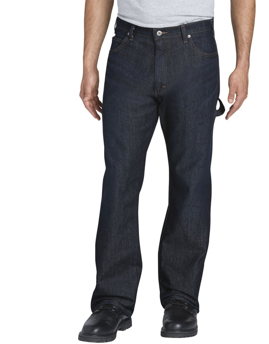 Dickies Mens FLEX Relaxed Fit Straight Leg 5-Pocket Carpenter Tough Max Denim Jeans