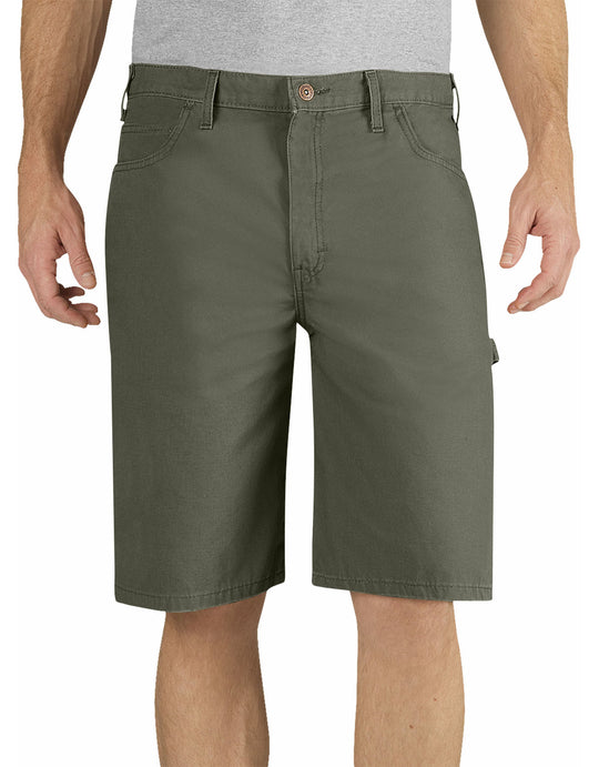 "Dickies Mens 11"" Relaxed Fit Lightweight Duck Carpenter Shorts"