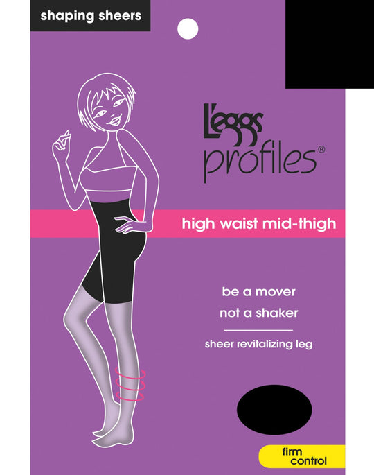 L'eggs Profiles Firm Control Waist Smoother Toner Energizing Hosiery