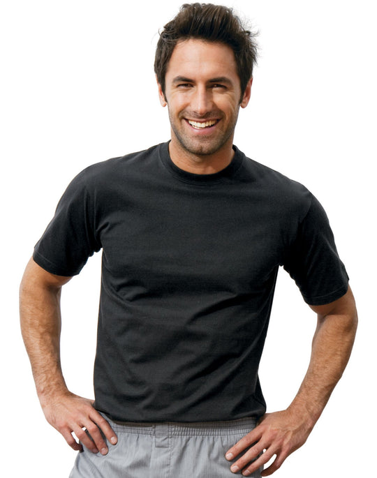 Hanes Classics Men's ComfortSoft® Dyed Crew TAGLESS® T Shirt 3 Pack Black/Grey