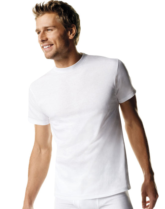 Hanes Men`s TAGLESS ComfortSoft Crew Undershirt Tall 3-Pack