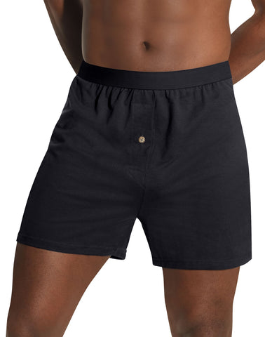 Hanes Men`s TAGLESS Knit Boxers with Comfort Flex Waistband 3X-5X 3-Pack
