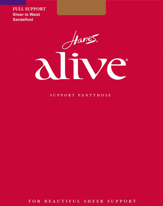 Hanes Alive Full Support Sheer to Waist Pantyhose