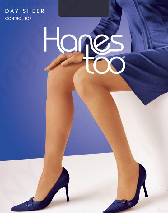 Hanes Too Control Top, Reinforced Toe Pantyhose 1 Pair Pack