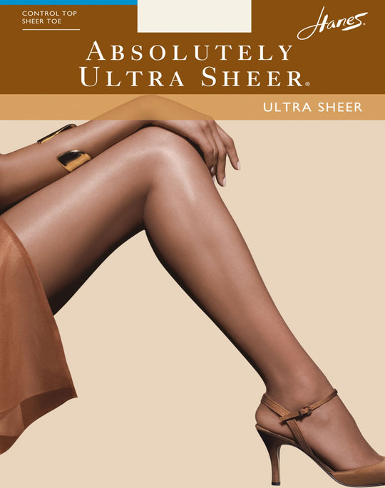 Hanes Absolutely Ultra Sheer Control Top Sandalfoot Pantyhose 1 Pair