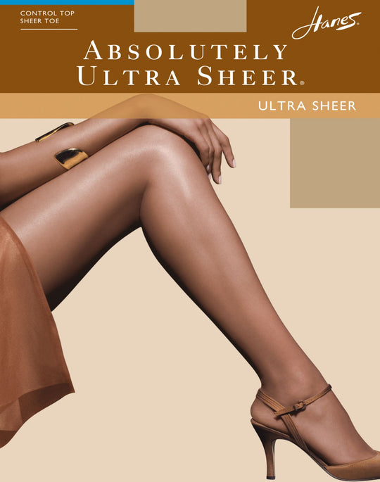 Hanes Absolutely Ultra Sheer Control Top Reinforced Toe Pantyhose 1 Pair