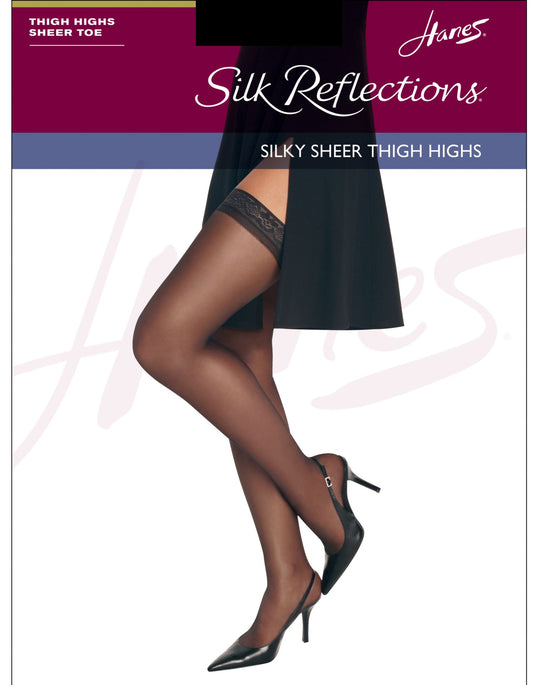 Hanes Silk Reflections Thigh Highs, Sandalfoot 1 Pair Pack