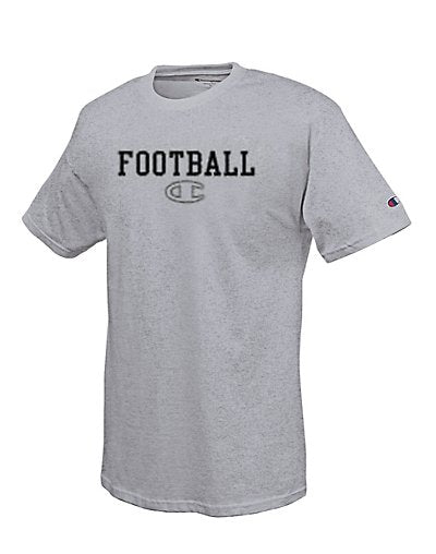 Champion Cotton-Rich Men's T Shirt with Classic Football Graphic