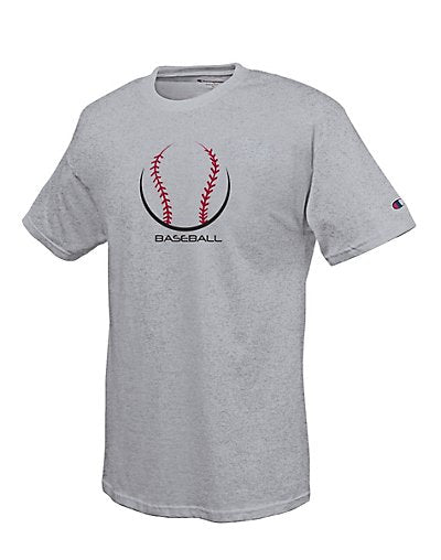 Champion Cotton-Rich Men's T Shirt with Baseball Laces Graphic