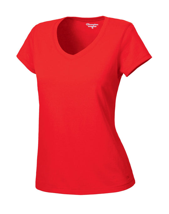 Champion Women's Favorite Cotton V-Neck T-Shirt