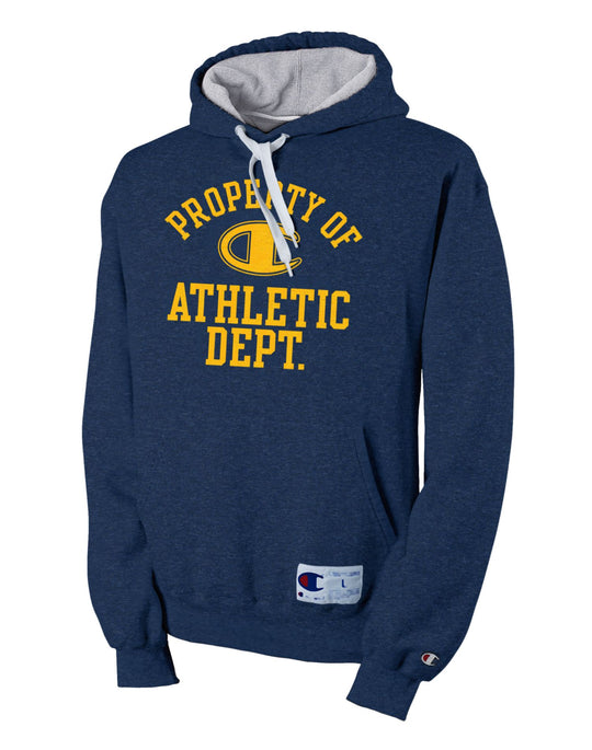 Champion Retro Rugby Men's Hoodie with 'Property Of' Graphic