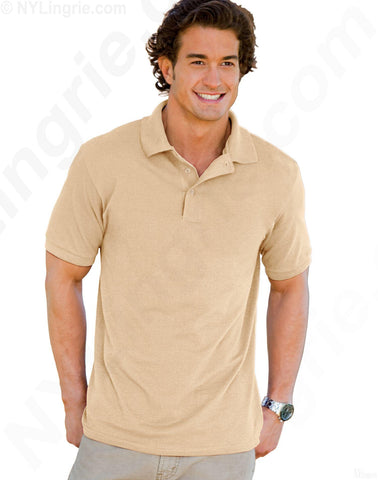 Hanes Men's 7 oz STEDMAN Cotton Pique Polo