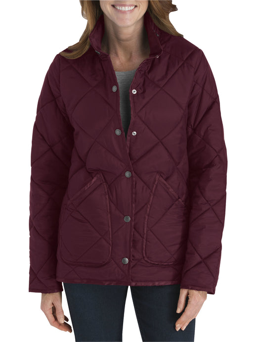 Dickies Womens Diamond Quilted Nylon Jacket
