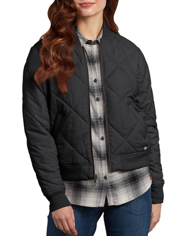 Dickies Womens Quilted Bomber Jacket