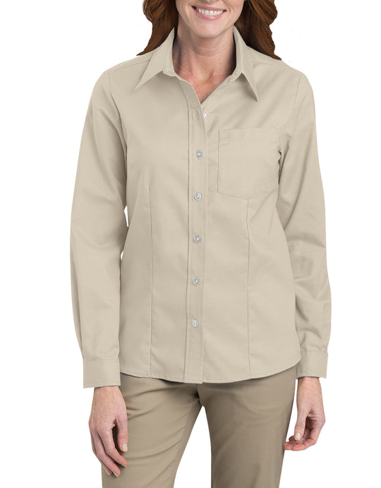 Dickies Womens Long Sleeve Stretch Oxford Shirt