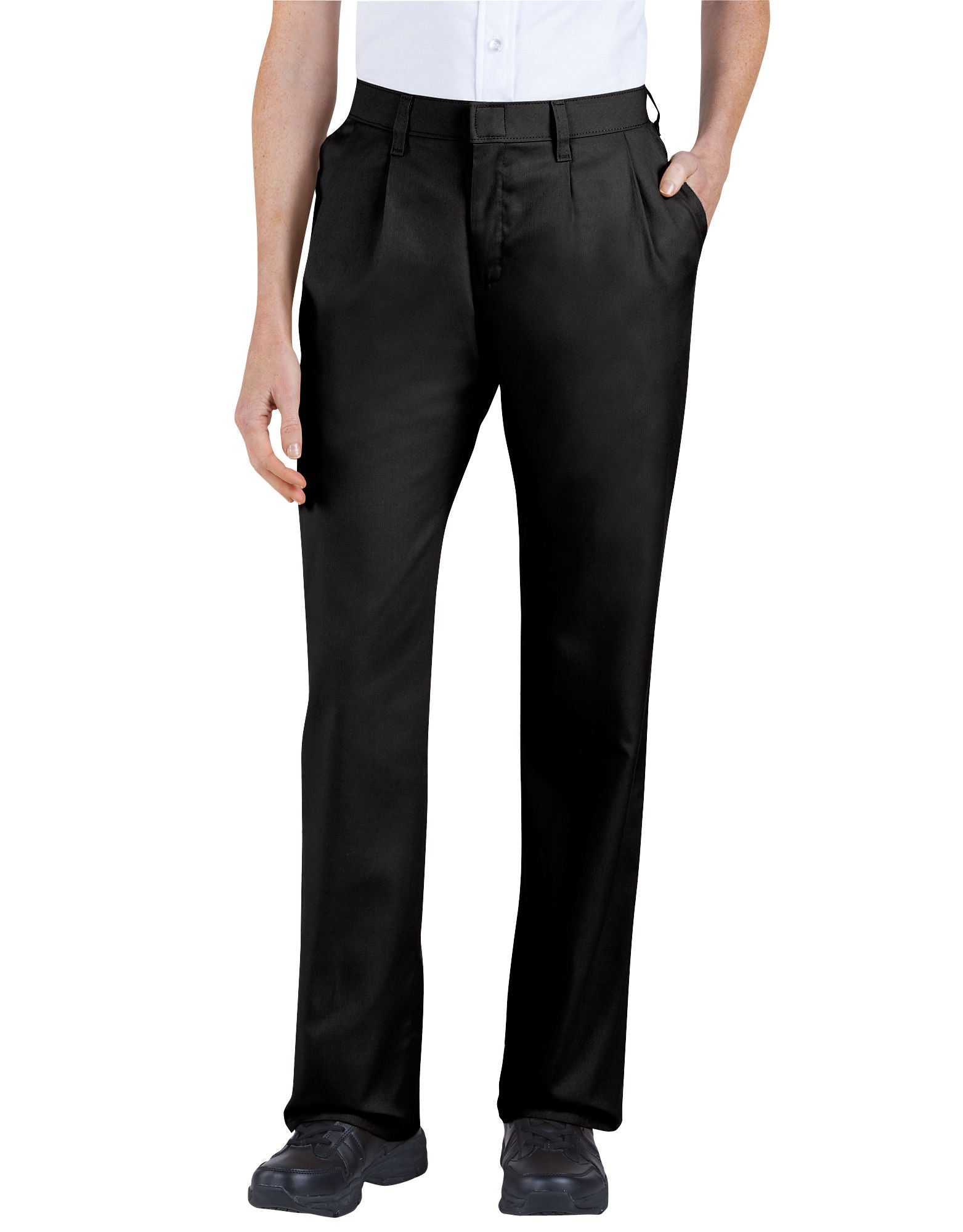 3d9e18d89e DIC-FP220 - Dickies Womens Relaxed Fit Straight Leg Pleated Front Pants